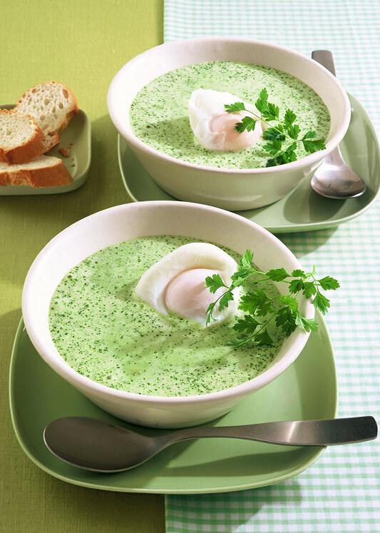 Kohlrabi-Kerbel-Suppe