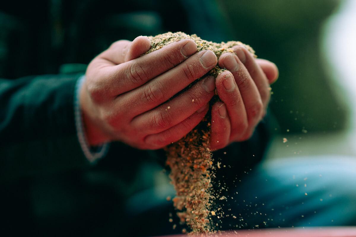 Hochwertiges Futter liefert alle Nährstoffe für eine ausgewogene Ernährung der Tiere.